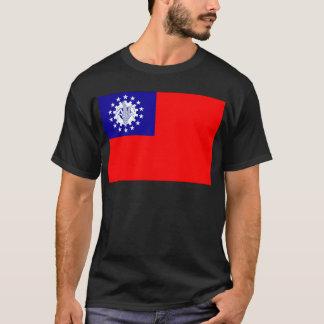 ミャンマーの旗 Tシャツ