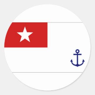 ミャンマーの海軍旗 ラウンドシール
