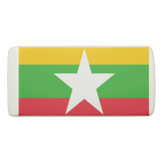ミャンマーの消す物の旗 消しゴム
