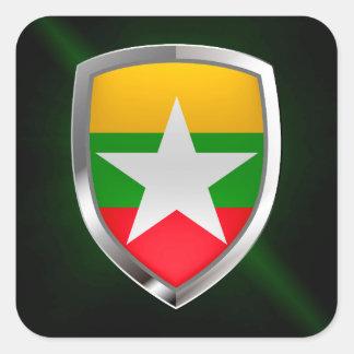 ミャンマーの金属紋章 スクエアシール