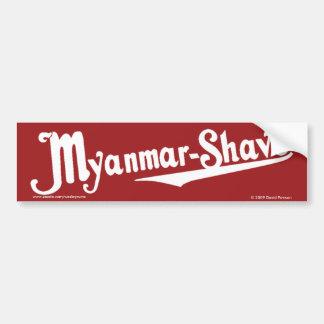 ミャンマー髭そり-更新済ビルマ髭そり バンパーステッカー