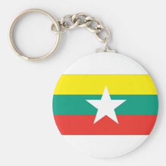 ミャンマー(ビルマ)の旗 キーホルダー