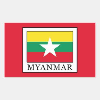 ミャンマー 長方形シール