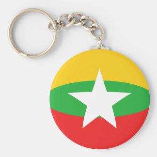 ミャンマーFisheyeの旗Keychain キーホルダー