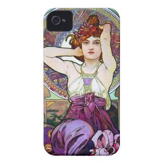 ミュシャのアメジスト Case-Mate iPhone 4 ケース