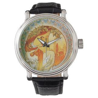 ミュシャのアールデコの腕時計 腕時計