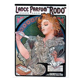ミュシャの槍のParfum Rodoの香水広告 ポストカード