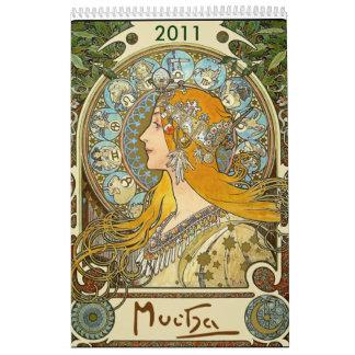 ミュシャ2011のカレンダー カレンダー
