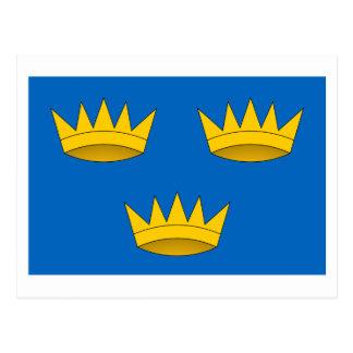 ミュンスターの地域の旗 ポストカード