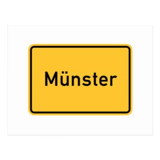 ミュンスター、ドイツの交通標識 ポストカード