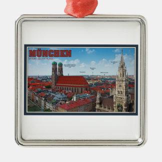 ミュンヘンの都市景観 メタルオーナメント
