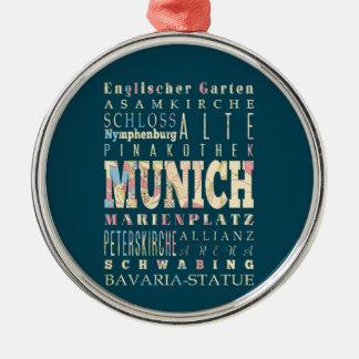 ミュンヘン、ドイツの魅力及び有名な場所 メタルオーナメント