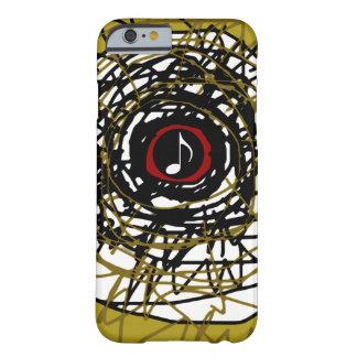 ミュージカルノートとの極度カッコいいの抽象的概念 BARELY THERE iPhone 6 ケース