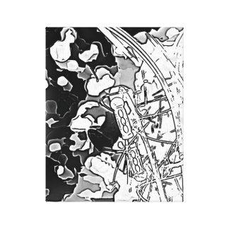 ミュージカル-白黒音楽印象 キャンバスプリント