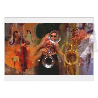 ミュージシャンのコラージュ カード