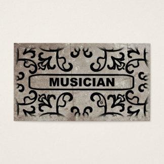 ミュージシャンの大理石のダマスク織の名刺 名刺