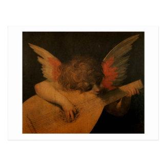 ミュージシャンの天使の郵便はがき ポストカード