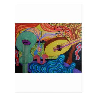 ミュージシャンの部屋 ポストカード