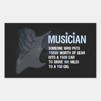 ミュージシャンは…あります 長方形シール