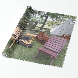 ミュージシャンバンドキャンプの包装紙 ラッピングペーパー
