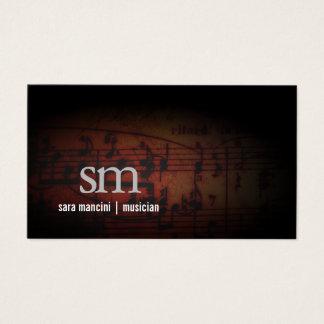 ミュージシャン音楽はグランジなモノグラム音楽に注意します 名刺