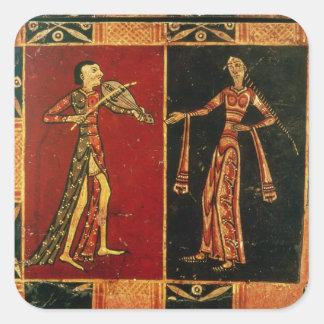 ミュージシャンaを描写する嫁入り道具入れの化粧箱からの詳細 スクエアシール