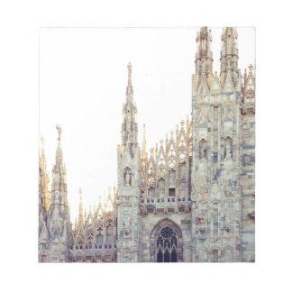 ミラノのカテドラル ノートパッド