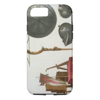 ミラノの一人乗り二輪馬車、石弓および装甲は、17のfrをめっきします iPhone 8/7ケース