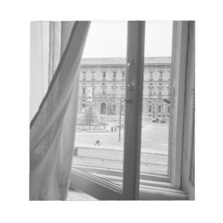 ミラノイタリア、スカラ座オペラ窓からの眺め ノートパッド
