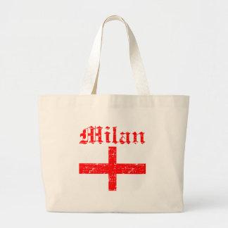 ミラノ都市デザイン ラージトートバッグ