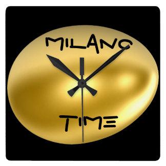 ミラノ都市柱時計! スクエア壁時計