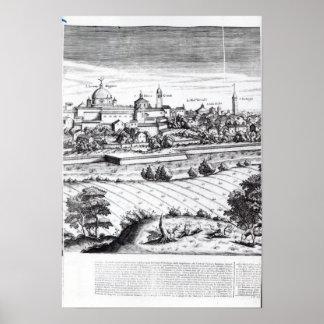 ミラノ1640年の地図のセクション ポスター