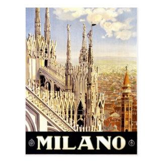 ミラノ、イタリアのヴィンテージ旅行絵はがき ポストカード