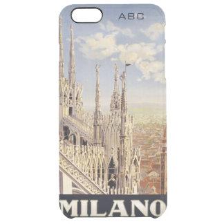 ミラノ(ミラノ)イタリアのヴィンテージ旅行習慣のケース クリア iPhone 6 PLUSケース