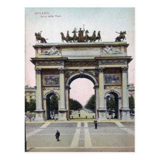 ミラノArcoのdellaのペースのイタリアのヴィンテージの郵便はがき ポストカード