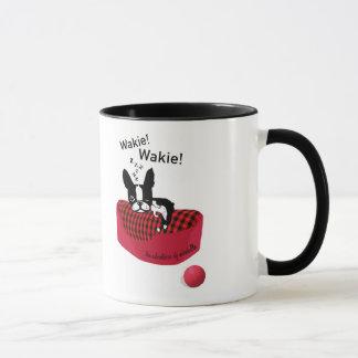 ミラベルボストンテリアWakie! Wakieのマグ マグカップ