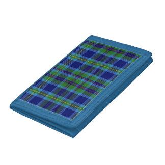 ミラータータンチェックの三つ折り財布 ナイロン三つ折りウォレット