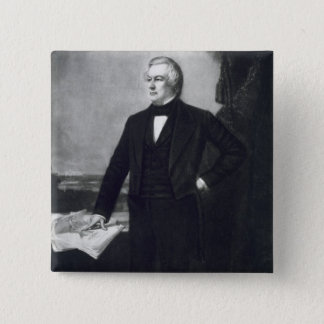 、ミラード・フィルモア統一されたなStaの第13大統領 5.1cm 正方形バッジ