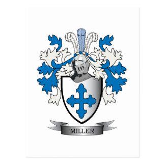 ミラー家紋の紋章付き外衣 ポストカード