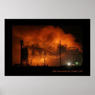 ミラー通りの倉庫の火 ポスター
