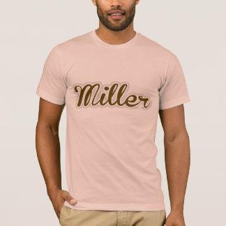 ミラーTシャツのブラウンのロゴ Tシャツ