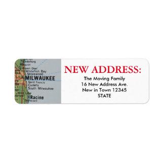 ミルウォーキーの新しい宛名ラベル ラベル