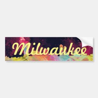 ミルウォーキーのWISCONSONのスカイラインWB1 - バンパーステッカー