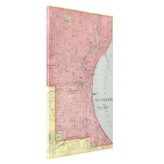 ミルウォーキーウィスコンシン(1903年)のヴィンテージの地図 キャンバスプリント