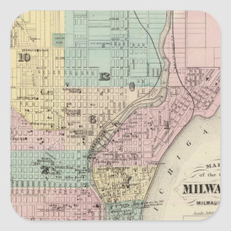ミルウォーキー、ミルウォーキーCo市の地図 スクエアシール
