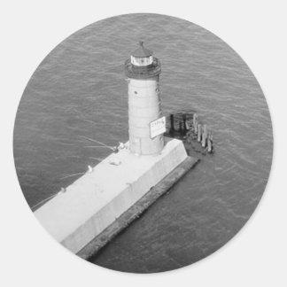 ミルウォーキーPierheadの灯台 ラウンドシール