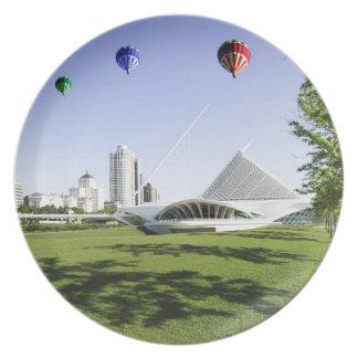 ミルウォーキーWIのプレート上の気球 プレート