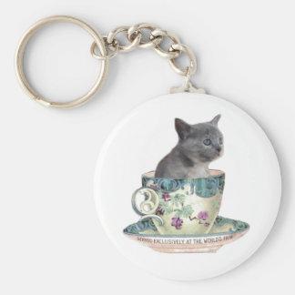 ミルクか砂糖か。 子ネコのkeychain キーホルダー