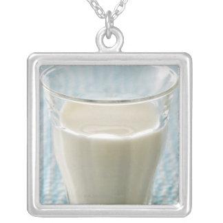 ミルクのガラス シルバープレートネックレス