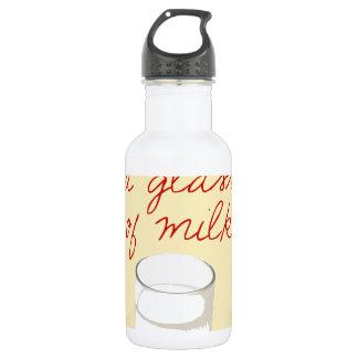 ミルクのシュトルーデルそしてガラス ウォーターボトル